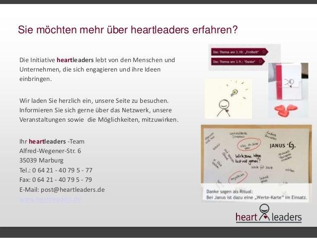 Sie möchten mehr über heartleaders erfahren?  Die Initiative heartleaders lebt von den Menschen und  Unternehmen, die sich...