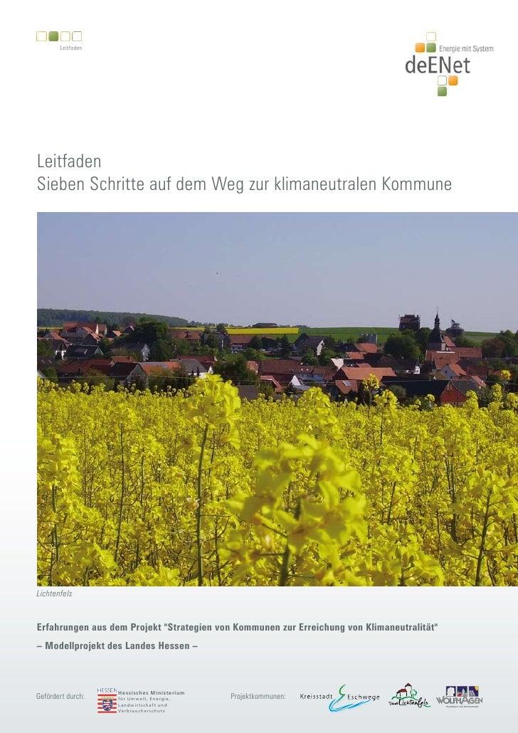 Leitfaden     Leitfaden Sieben Schritte auf dem Weg zur klimaneutralen Kommune     Lichtenfels   Erfahrungen aus dem Proje...