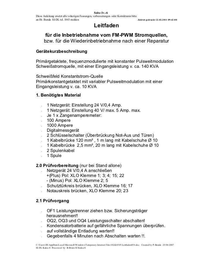 Seite-1v.-6Diese Anleitung ersetzt alle voherigen Fassungen, verbesserungen oder Korrekturen bittean Hr. Benda SI-DL tel. ...