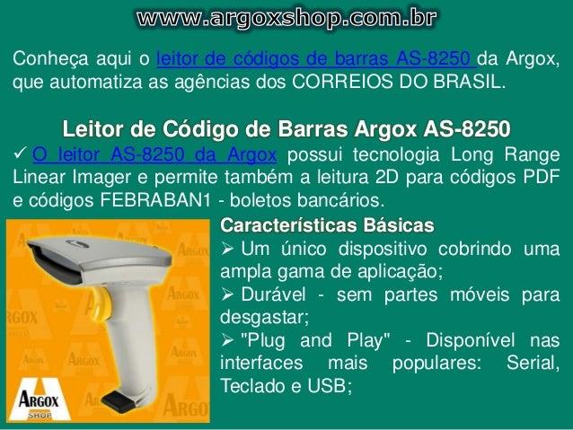 Leitor AS-8250 argox Slide 2