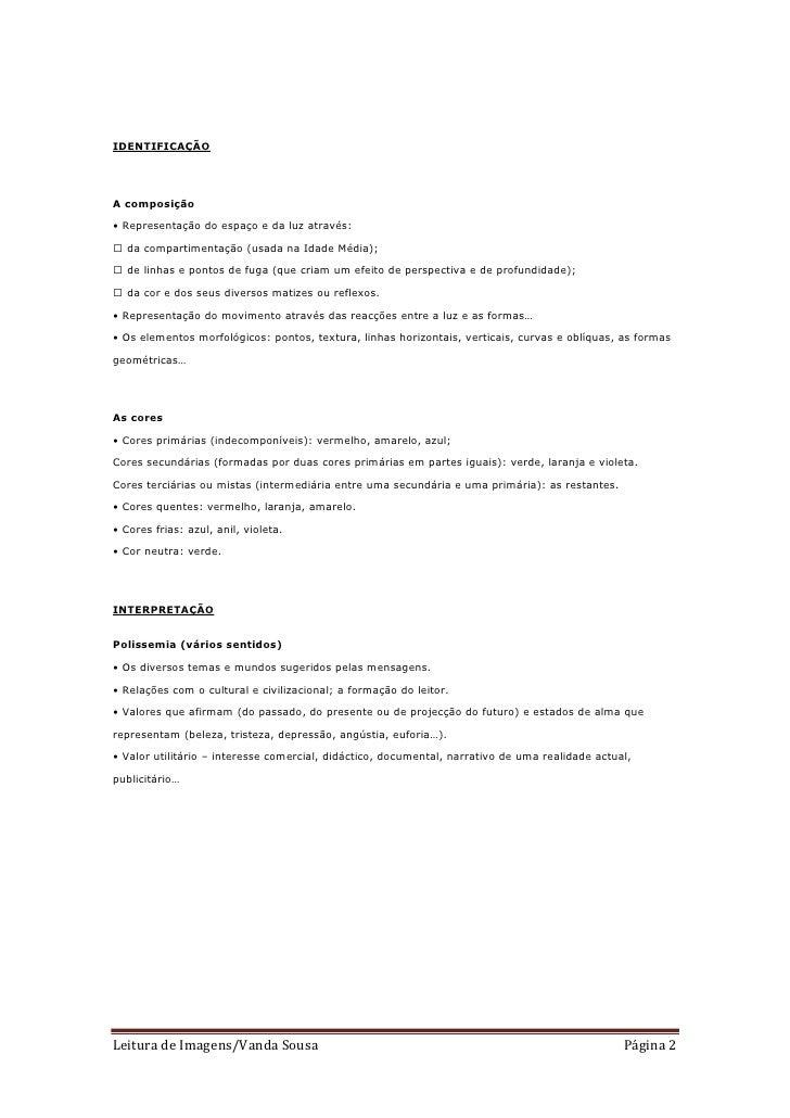 IDENTIFICAÇÃOA composição• Representação do espaço e da luz através:��� da compartimentação (usada na Idade Média);��� de ...