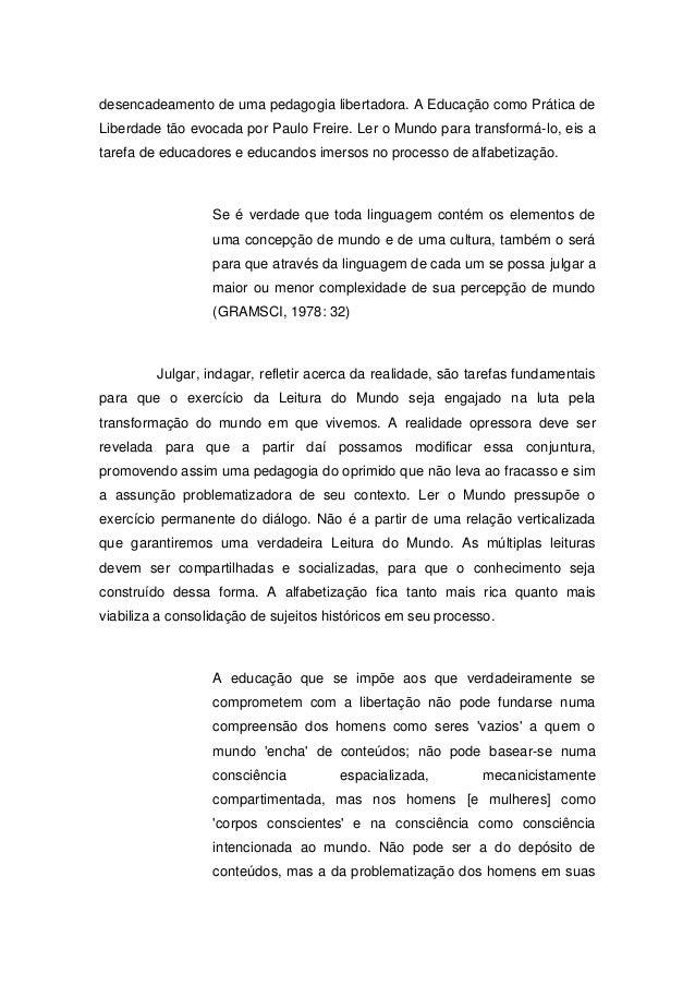 Leitura De Mundo Paulo Freire