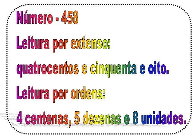 Leitura de números por ordens e extenso