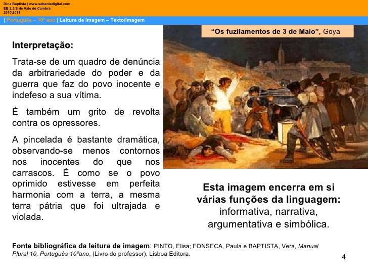    Português – 10º ano    Leitura de Imagem – Texto/Imagem Dina Baptista   www.sebentadigital.com EB 2,3/S de Vale de Camb...