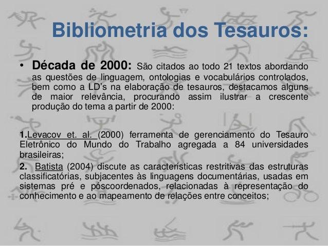 Leituras complementares: Estudo preliminar do Tesauro