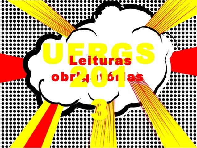 UFRGS Leituras obrigatórias 201 3