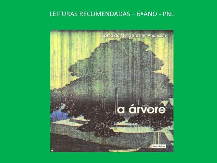 LEITURAS RECOMENDADAS – 6ºANO - PNL<br />