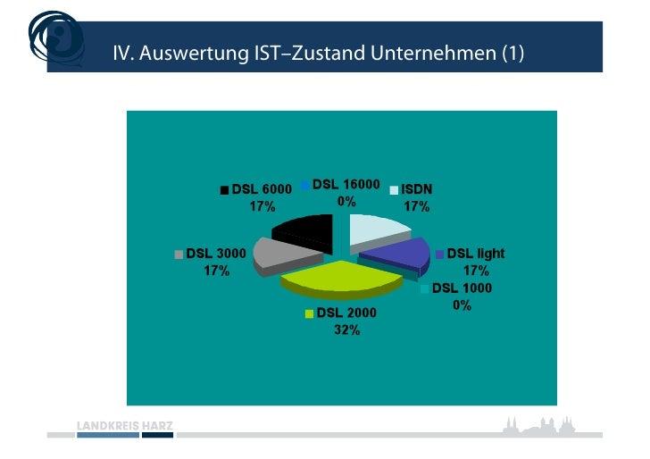 IV. Auswertung IST–Zustand Unternehmen (1)