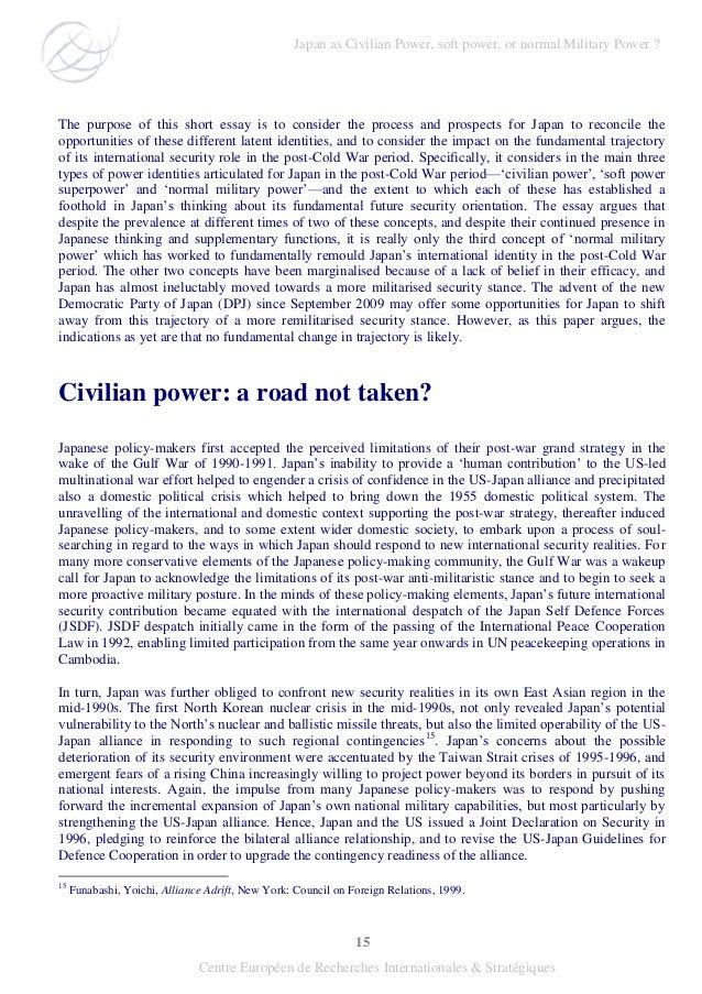 15 Centre Européen de Recherches Internationales & Stratégiques The purpose of this short essay is to consider the process...