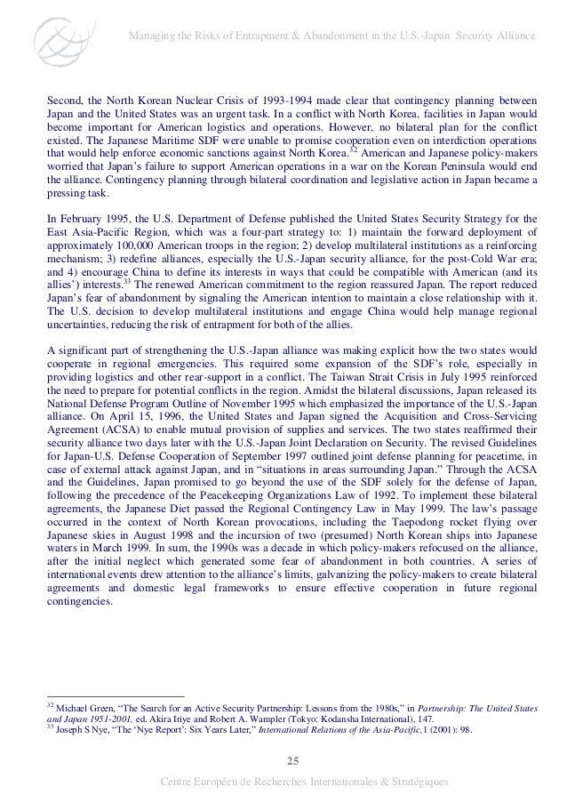 25 Centre Européen de Recherches Internationales & Stratégiques Second, the North Korean Nuclear Crisis of 1993-1994 made ...