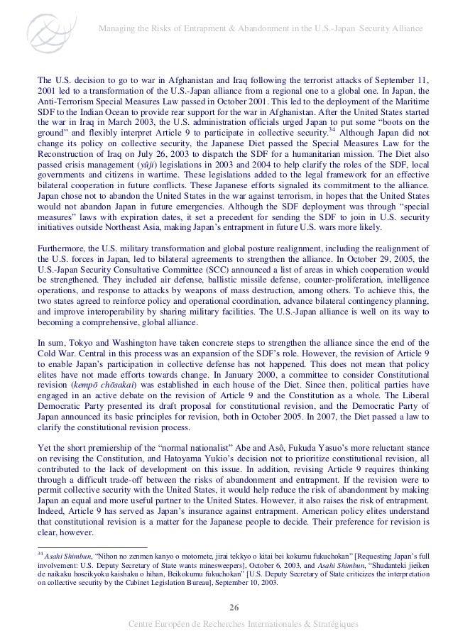 26 Centre Européen de Recherches Internationales & Stratégiques The U.S. decision to go to war in Afghanistan and Iraq fol...