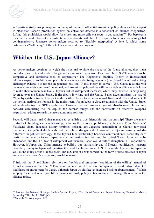 27 Centre Européen de Recherches Internationales & Stratégiques A bipartisan study group composed of many of the most infl...