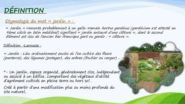 Jardin anglais for Definition du jardin