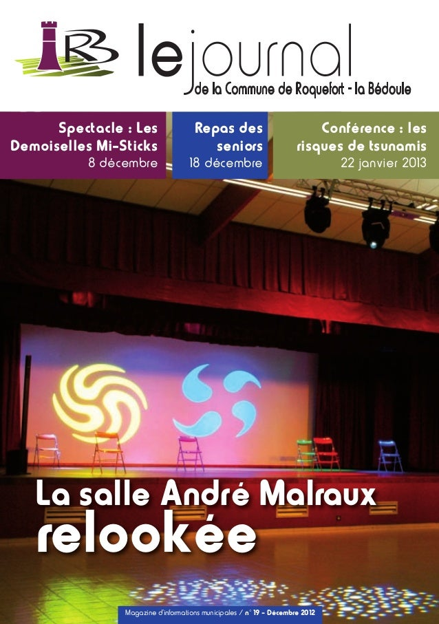 38375 LeJournal 19_A4 26/11/12 16:57 Page1        Spectacle : Les                                      Repas des          ...