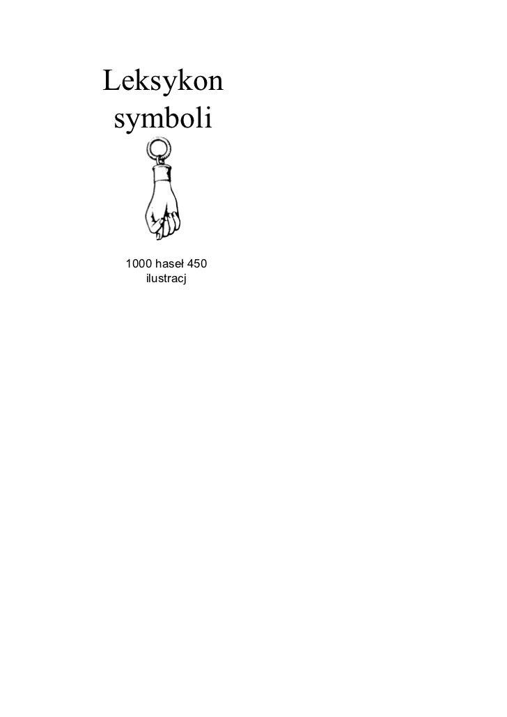 Leksykon  symboli     1000 haseł 450     ilustracj