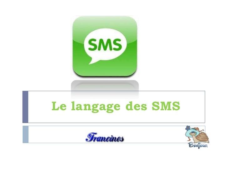 Le langage des SMS