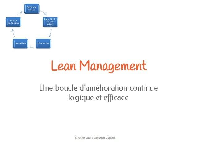 Lean ManagementUne boucle damélioration continuelogique et efficace