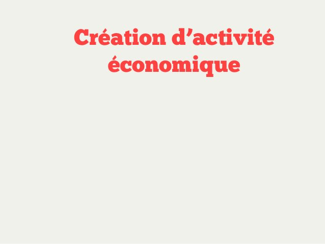 Création d'activité économique Méthode