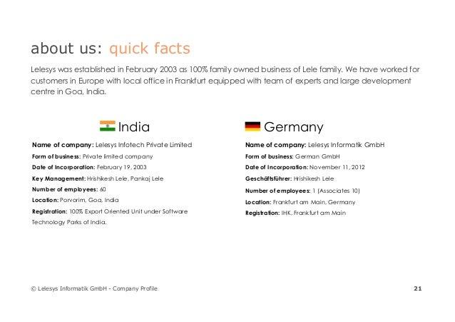 Lelesys Informatik GmbH - Company Profile