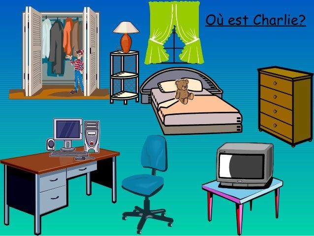 Le lexique de la chambre coucher et les pr positions for Chambre a coucher vocabulaire