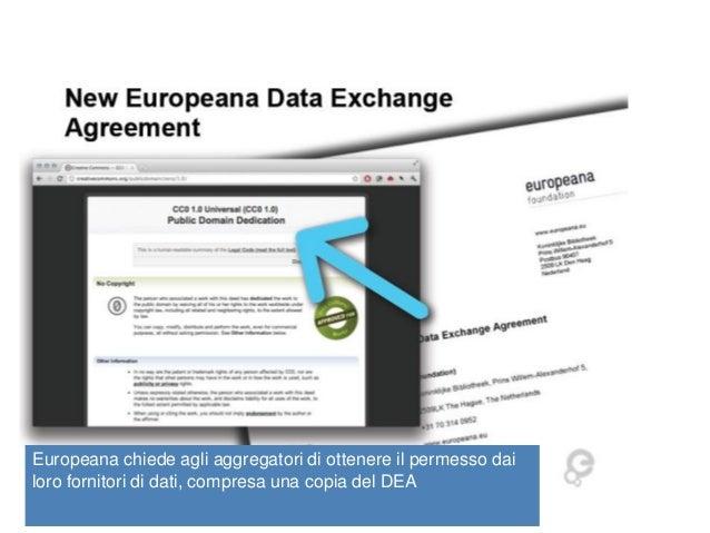 CulturaItalia/Europeana Nuova licenza CC0  Europeana chiede agli aggregatori di ottenere il permesso dai loro fornitori di...