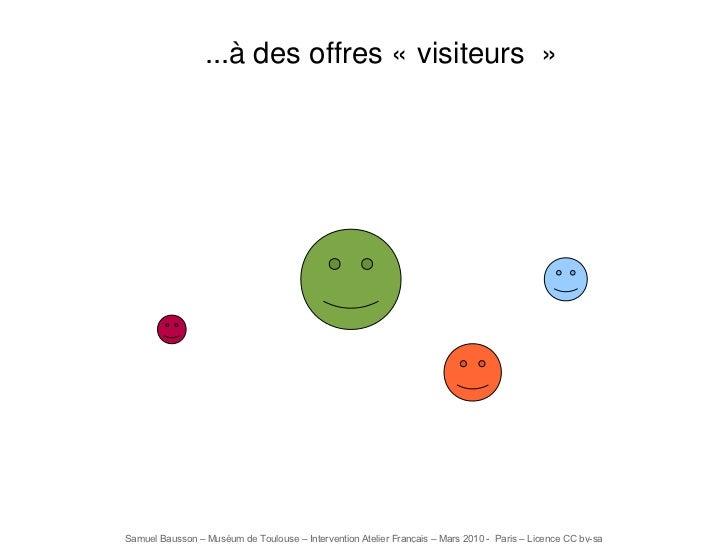 ...à des offres «visiteurs»