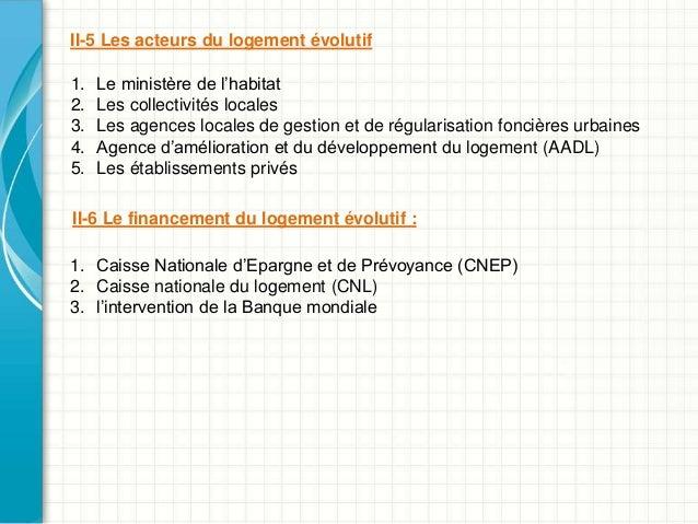 Le logement volutif en algerie for Caisse nationale de logement