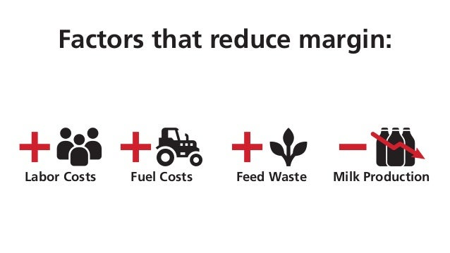 Factors that reduce margin: Fuel CostsLabor Costs Feed Waste Milk Production