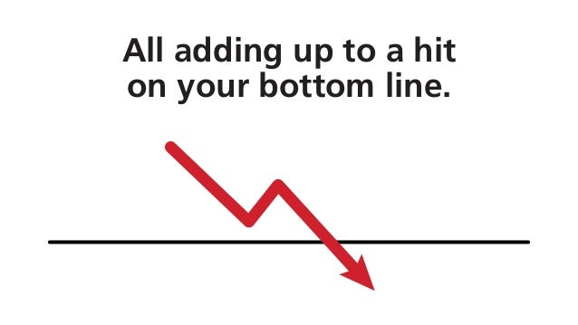 All adding up to a hit on your bottom line.
