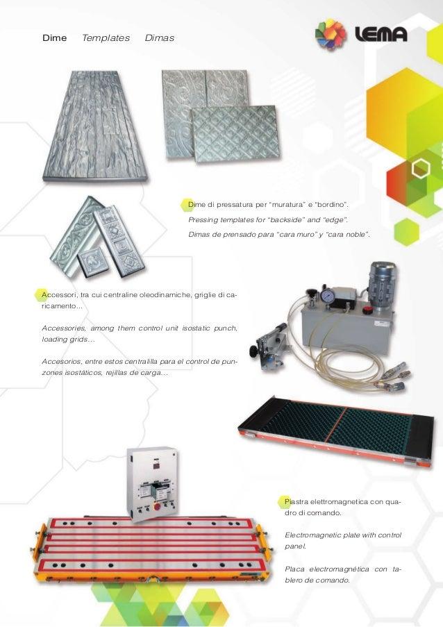 Presse oleodinamiche per la compattazione di polveri. Hydraulic presses for the compaction of powders. Prensas hidráulicas...