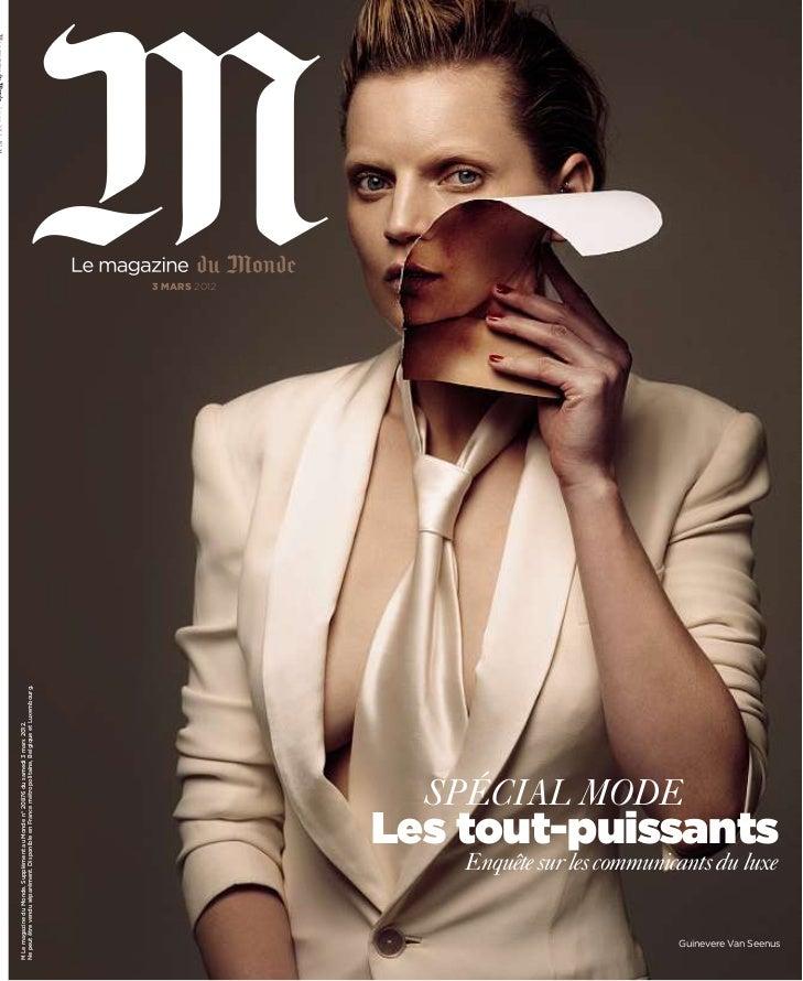M Le magazine du Monde. Supplément au Monde n° 20876 du samedi 3 mars 2012.Ne peut être vendu séparément. Disponible en Fr...