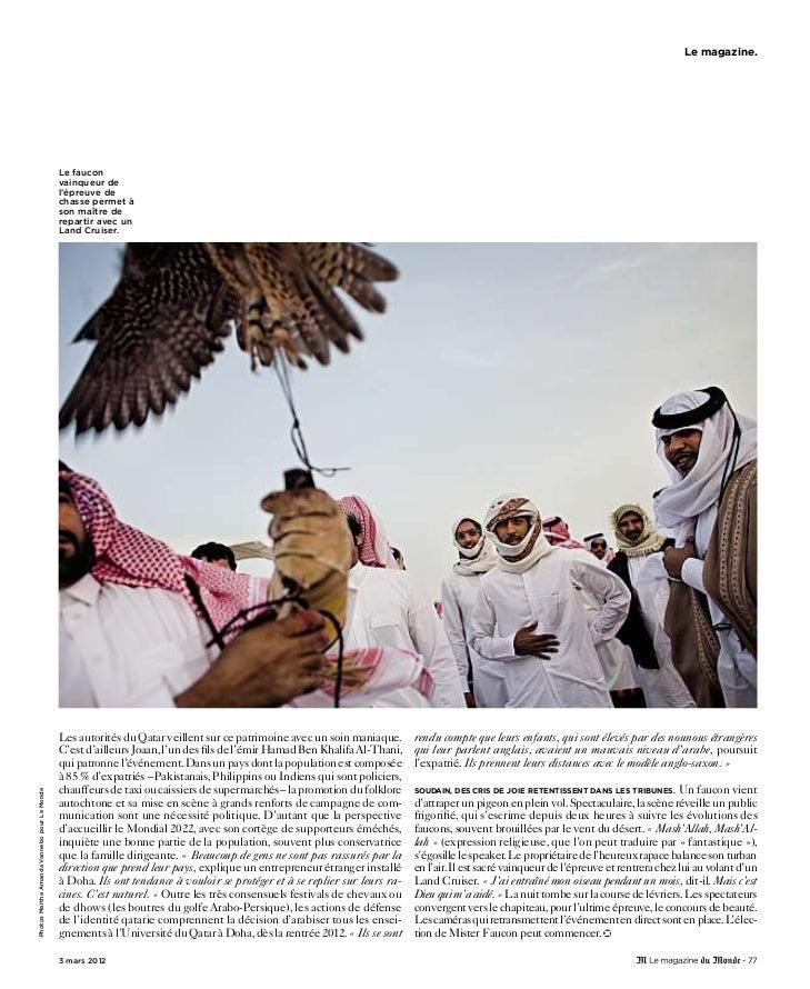 Le magazine du monde du 3-3-2012