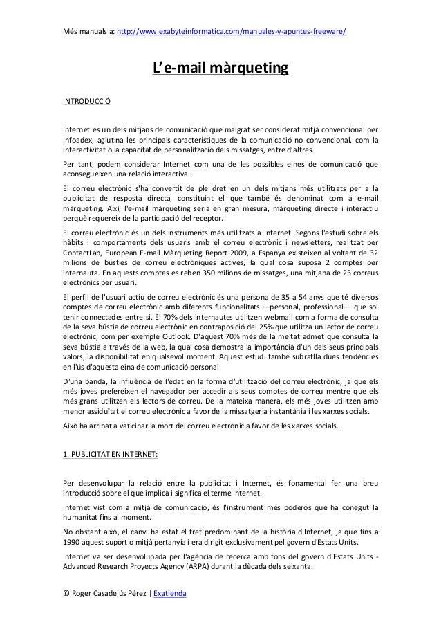 Més manuals a: http://www.exabyteinformatica.com/manuales-y-apuntes-freeware/© Roger Casadejús Pérez | ExatiendaL'e-mail m...