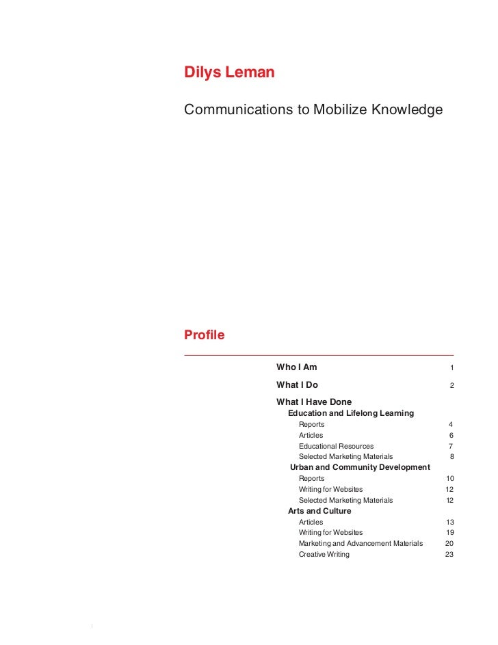 Dilys Leman                         Communications to Mobilize Knowledge                         Profile                  ...