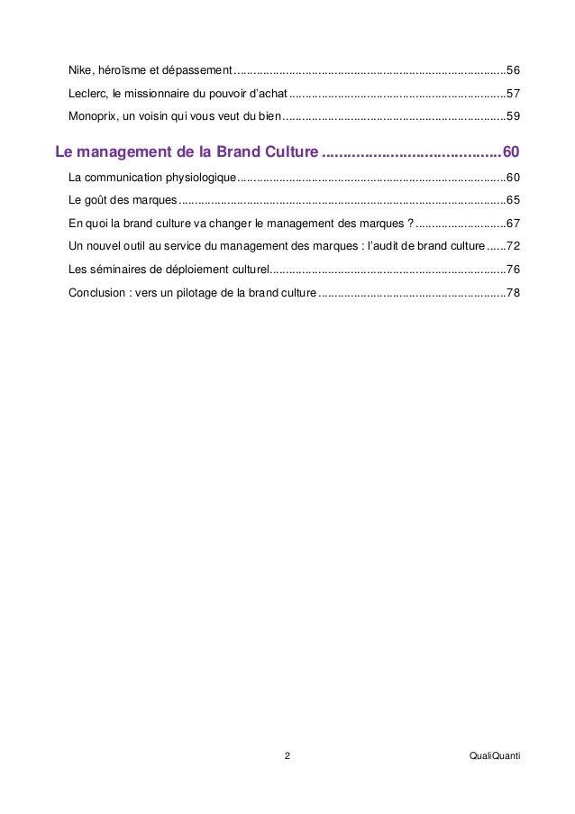 Le management de la brand culture (livre blanc) Slide 3