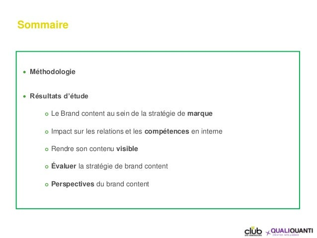 Le management du brand content  par le club des annonceurs et QualiQuanti Slide 2