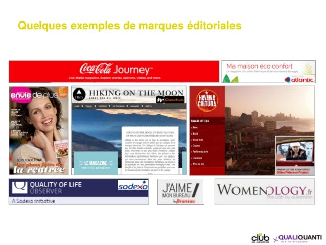 Quelques exemples de marques éditoriales
