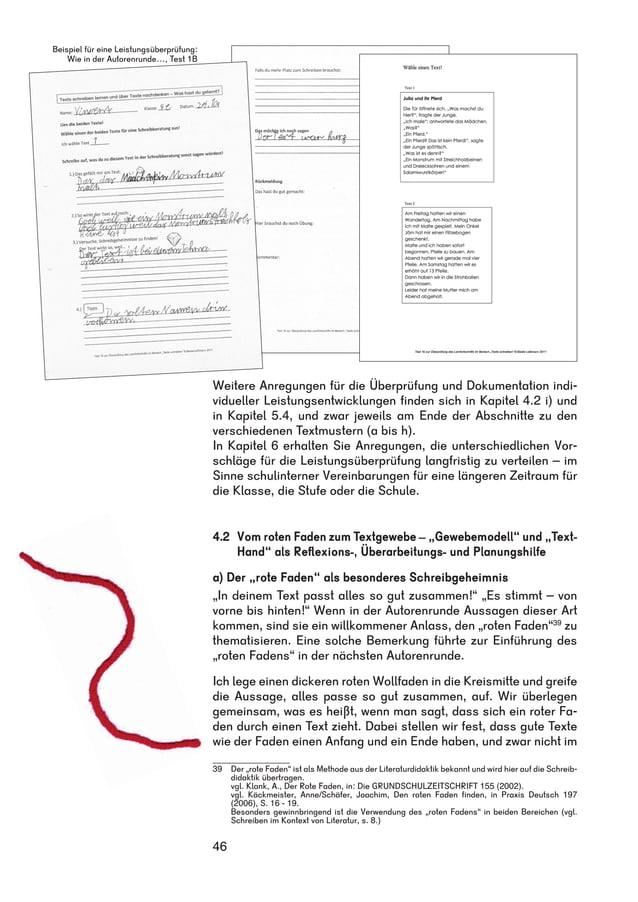 Weitere Anregungen für die Überprüfung und Dokumentation indi-vidueller  46  Leistungsentwicklungen finden sich in Kapitel...