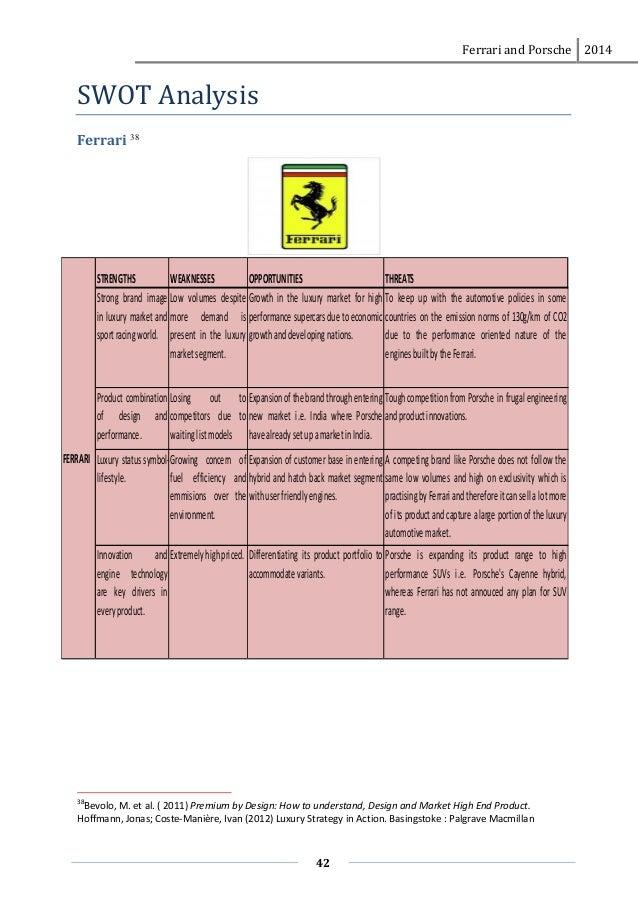 pest analysis of ferrari