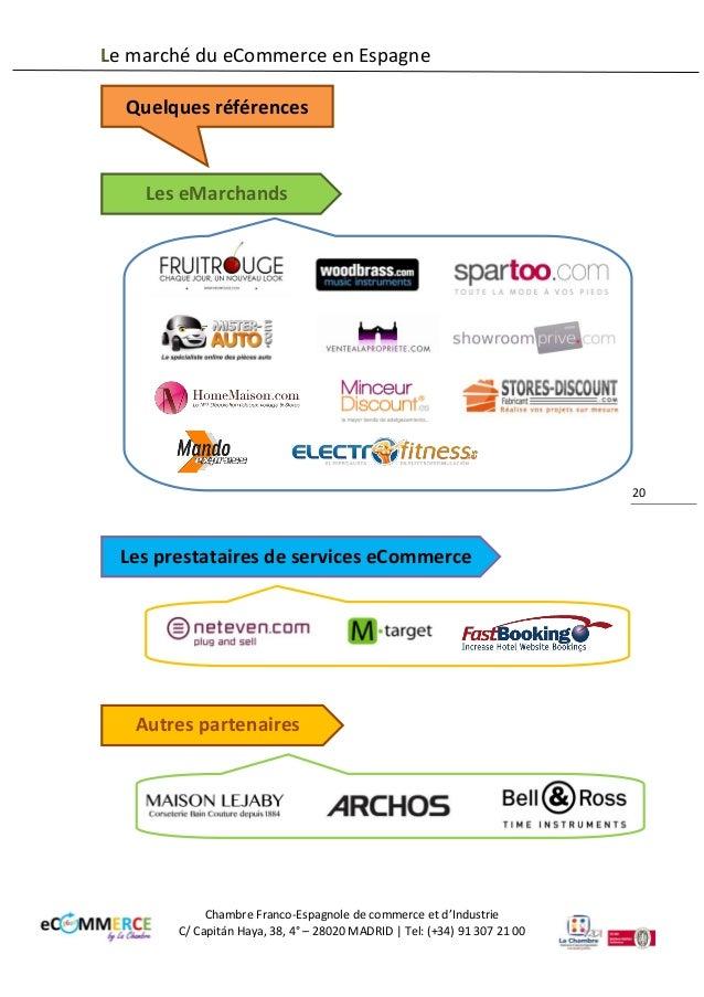 Nouveau dossier 2014 le march du ecommerce en espagne for Chambre de commerce franco espagnole