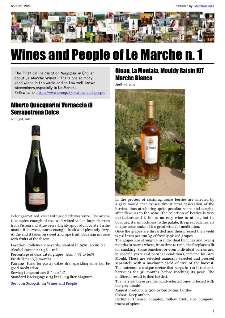 April 3rd, 2012                                                                                       Published by: Marche...