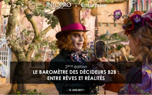 1 X 2ème édition LE BAROMÈTRE DES DÉCIDEURS B2B : ENTRE RÊVES ET RÉALITÉS - 15 JUIN 2017 -