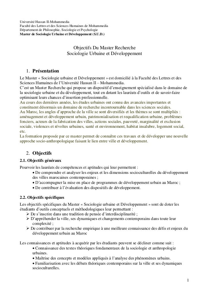 Université Hassan II-MohammediaFaculté des Lettres et des Sciences Humaines de MohammediaDépartement de Philosophie, Socio...