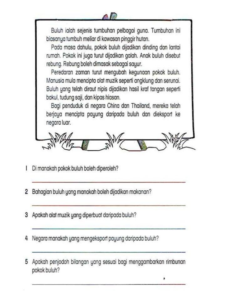 Lembaran Kerja Bahasa Melayu Tahun 2