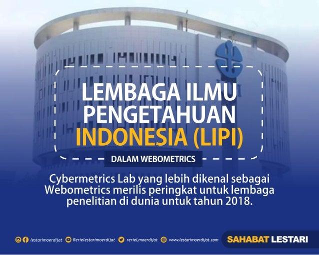 Lembaga Ilmu Pengetahuan Indonesia (LIPI) dalam Webometrics