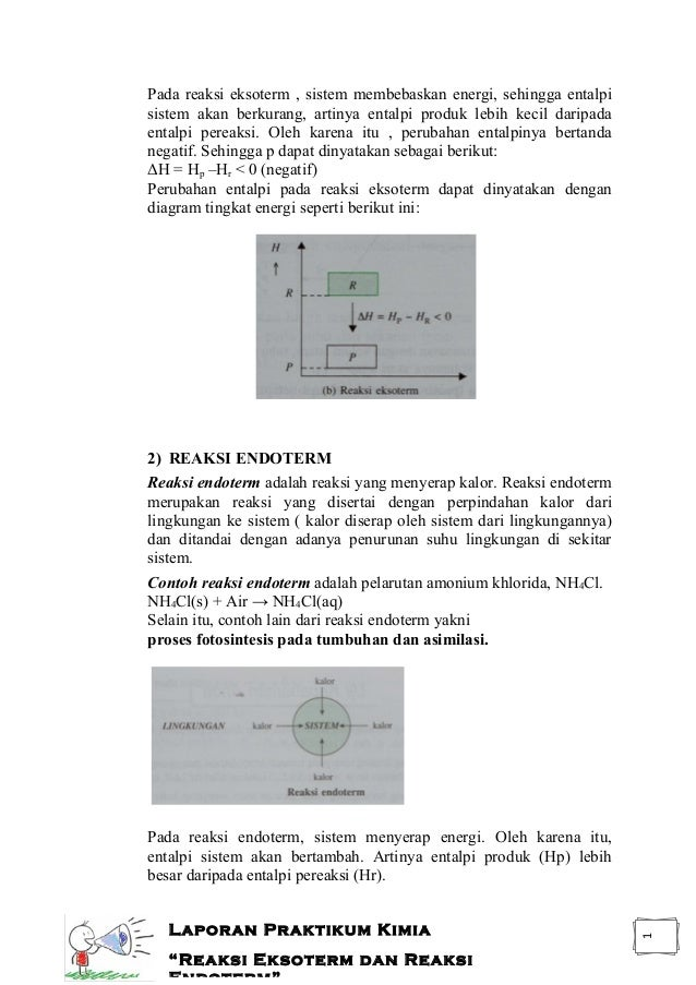 Reaksi eksoterm dan reaksi endoterm laporan praktikum laporan praktikum kimia reaksi eksoterm dan reaksi endoterm 2 ccuart Images