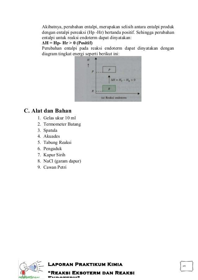 Reaksi eksoterm dan reaksi endoterm laporan praktikum laporan praktikum kimia reaksi eksoterm dan reaksi endoterm 3 ccuart Images