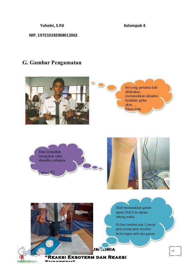 Reaksi Eksoterm Dan Reaksi Endoterm Laporan Praktikum