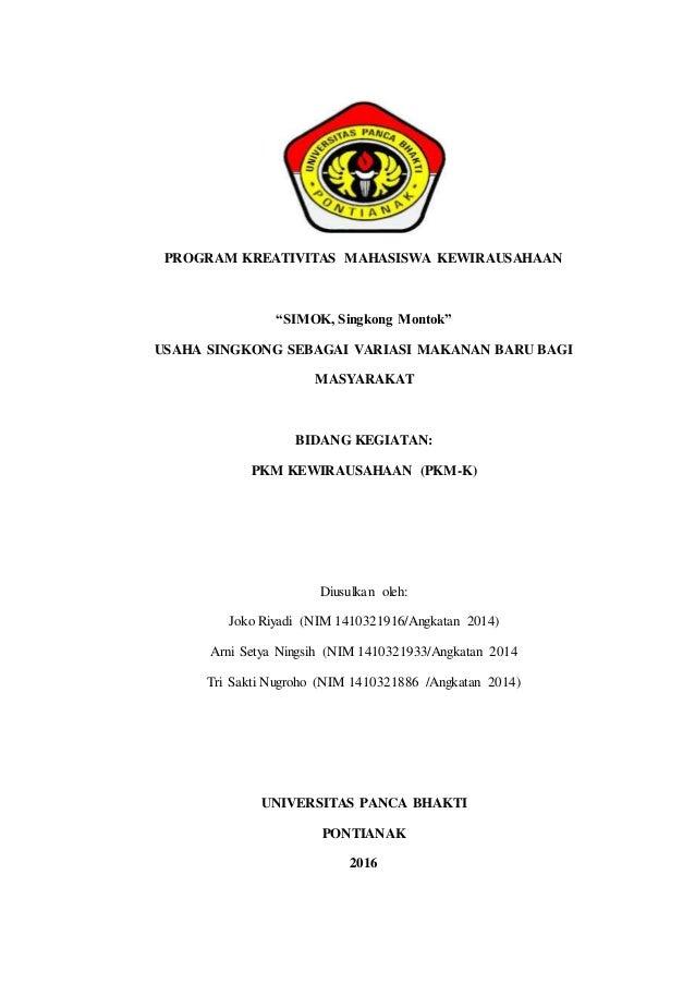 Proposal Pkm Simok Singkong Montok