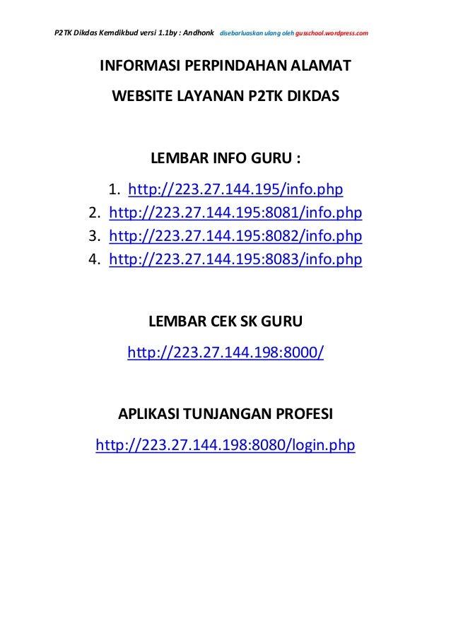 P2TK Dikdas Kemdikbud versi 1.1by : Andhonk disebarluaskan ulang oleh gusschool.wordpress.comINFORMASI PERPINDAHAN ALAMATW...